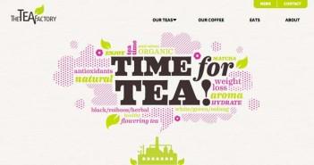 Ejemplos de pagina web con uso de patrones de diseño: The Tea Factory