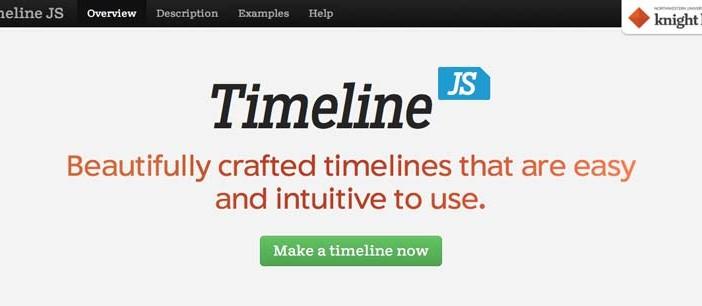 Librería de JavaScript plugin para visualizar diagramas: Timeline JS