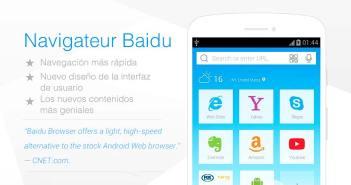 Navegadores web para Android OS: Baidu Browser