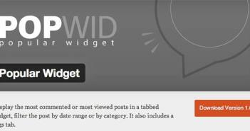 Plugin Wordpress para entradas populares: Popular Widget