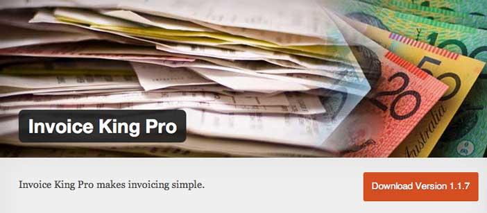 Plugin Wordpress para generar facturas: Invoice King Pro