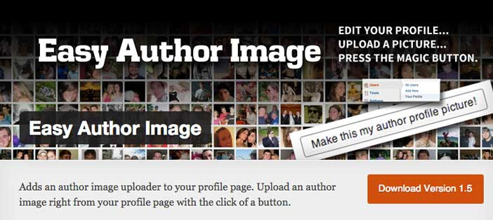 Plugin Wordpress para realizar cambios a tu página de autor: Easy Author Image