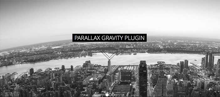 Plugin Wordpress para implementar efecto parallax: Gravity