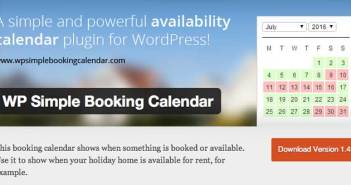 Plugin Wordpress para reservaciones: WP Simple Booking Calendar