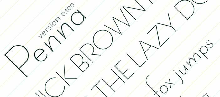 Tipografias gratis modernas y delgadas: Penna