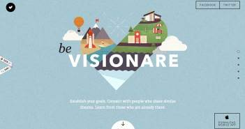 Ejemplos de paginas web que hacen uso de los colores pastel: Be Visionare