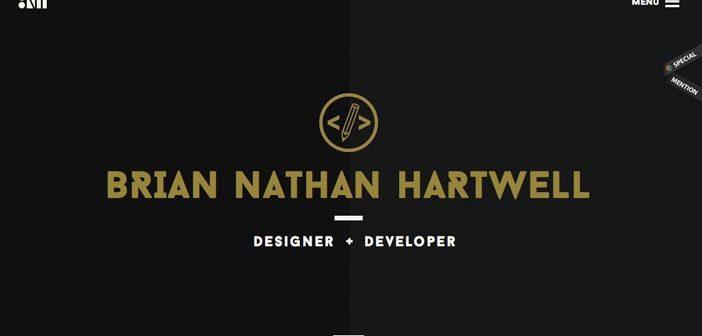 Ejemplos de portfolio online de diseño minimalista: Brian Nathan Hartwell