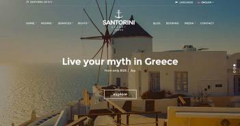 Los mejores temas Wordpress de este año para hoteles: Santorini