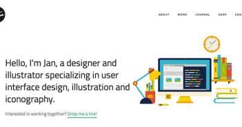 Conceptos de página con estilo flat web design: Jan Cavan