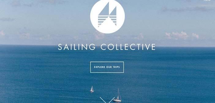 Sitios web que hacen uso de fotos de paisajes hermosos: Sailing Collective