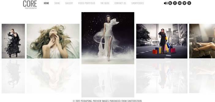 Temas Wordpress premium para fotógrafos: Core