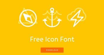 Tipografías gratis diseñadas en base a iconos: Icon Works