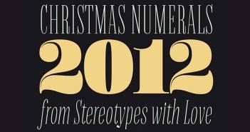 Tipografias gratis para tus diseños navideños: Christmas Numerals