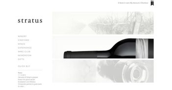 Ejemplos de paginas web de bodegas de vino: Stratus Vineyards