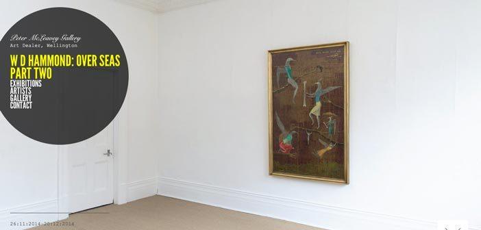 Ejemplos de paginas web de museos y galerías de arte: Peter Mc Leavey Gallery