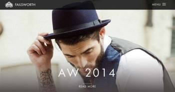 Ejemplos de paginas web que hacen buen uso de imágenes en gran tamaño: Failsworth