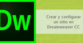 Crear y configurar un sitio en Dreamweaver CC