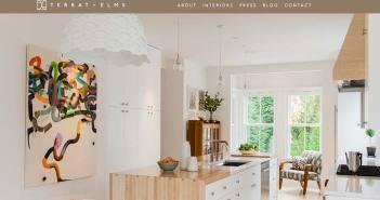 Ejemplos de paginas web de agencias de diseño de interiores: Terrat Elms