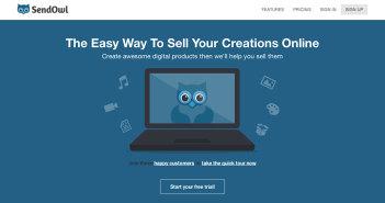 Páginas para vender por internet productos digitales: SendOwl