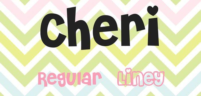 Tipografias gratis para tus proyectos de San Valentín: Cheri
