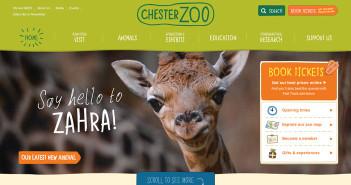 Ejemplos de paginas web de zoológicos y acuarios: Chester Zoo