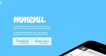 Plugin JQuery optimizados para dispositivos móviles táctiles: mMenu