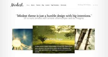 Temas Wordpress de estética minimalista: Modest