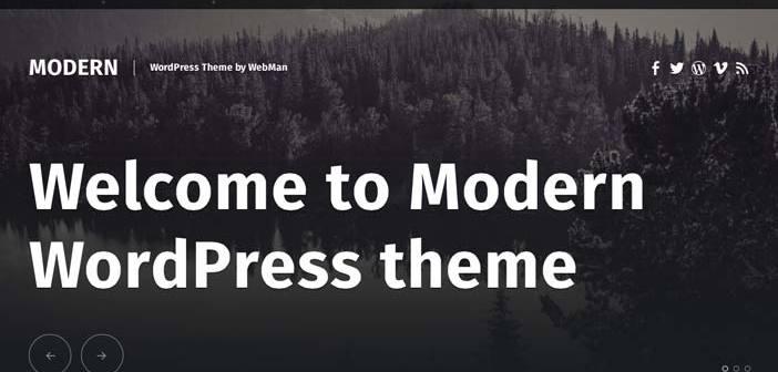 Temas Wordpress gratuitos que siguen las tendencias de diseño actuales: Modern