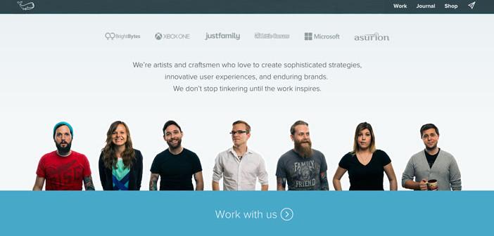 Características de un sitio web de una agencia de diseño: Branding
