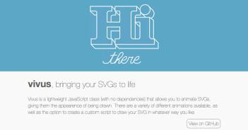 Librerías de Javascript plugin para animar gráficos SVG: Vivus