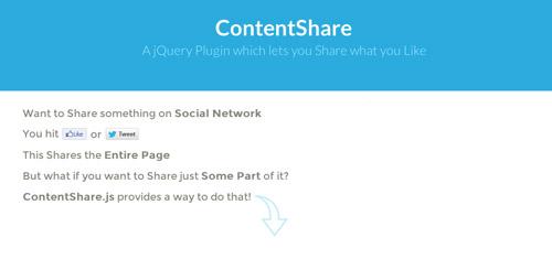 Plugin jQuery para añadir botones de redes sociales: ContentShare