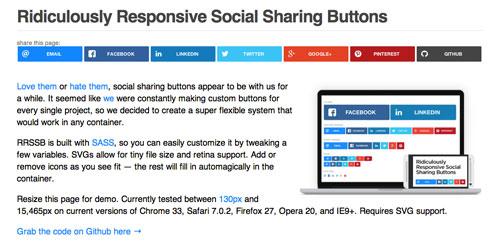 Plugin jQuery para añadir botones de redes sociales: Rdiculously Responsive Social Sharing Buttons