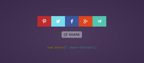 Plugin jQuery para añadir botones de redes sociales: Share