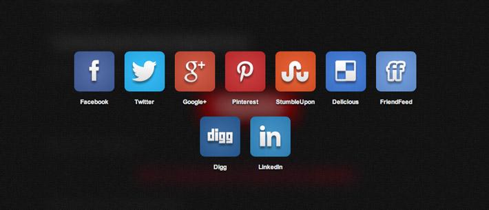 Plugin jQuery para añadir botones de redes sociales: Social