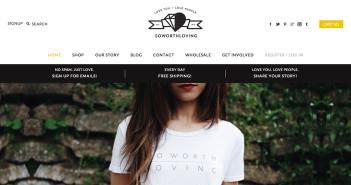 Ejemplos de tiendas online de ropa con un gran diseño: So Worth Loving