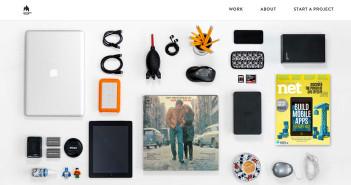 5 tendencias de diseño web en el uso de fotografías: Como una composición organizada