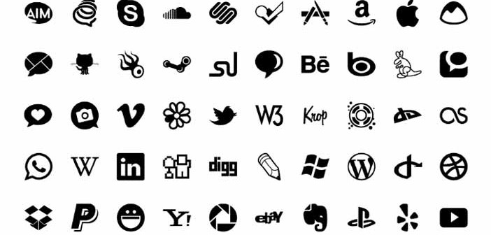 Pack gratuito de iconos de redes sociales: Adobe Muse Icons de FreeMuse Team