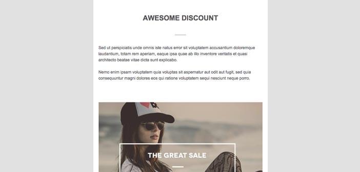 Plantillas HTML para envío de boletines informativos: Trendy T-Shirts