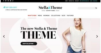 Plantillas Shopify para tiendas de ropa: Stella