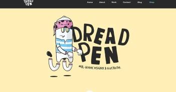 Ejemplos de sitios web que hacen un gran uso de fuentes manuscritas: Dread Pen