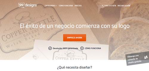 plataformas-encontrar-trabajos-freelance-99designs