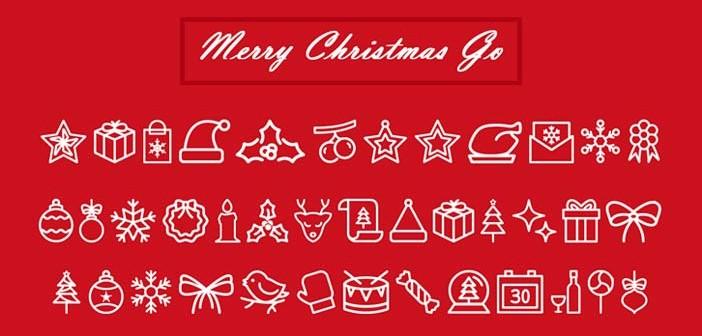 Fuentes gratuitas para incluir iconos navideños en tus diseños: Merry Christmas Go