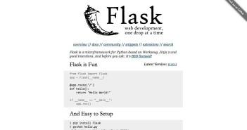Listado de Python framework básicas: Flask