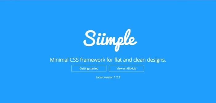Frameworks CSS sencillas para proyectos ligeros: Siimple