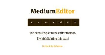 Herramientas para incluir editor WYSIWYG en tu sitio: Medium Editor