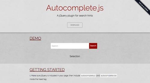 Plugin jQuery para implementar función Autocompletar en tu sitio: Autocomplete.js