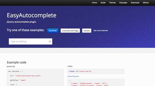 Plugin jQuery para implementar función Autocompletar en tu sitio: Easy Autocomplete