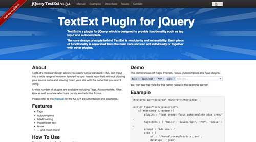 Plugin jQuery para implementar función Autocompletar en tu sitio: TextExt