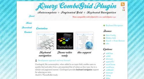 Plugin jQuery para implementar función Autocompletar en tu sitio: jQuery ComboGrid