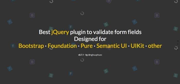 Plugins jQuery para validar formulario web: FormValidation